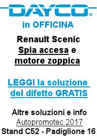 DAYCO - Renault Scenic Spia accesa, motore zoppica dopo sostituzione filtro olio
