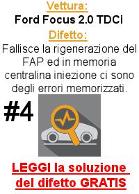 Rigenerazione FAP fallita - Ford Focus 2.0 TDCi
