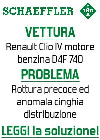 Problem Solving Schaeffler - Renault Clio IV motore Benzina D4F - Rottura precoce e anomala cinghia distribuzione