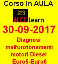 30-09-2017 - Diagnosi malfunzionamenti motore Diesel Euro5/Euro6