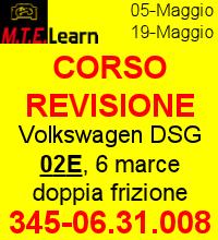Revisione cambio: Volkswagen DSG 02E, 6 marce doppia frizione in bagno d'olio